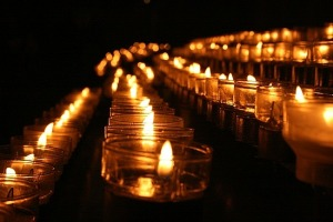 prayers and candles